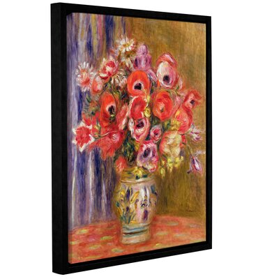 'Vase Of Tulips And Anemones, 1895' by Pierre Renoir Framed Painting Print