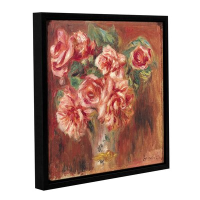 'Roses In A Vase, 1890' by Pierre Renoir Framed Painting Print