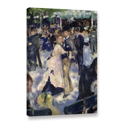 'Le Moulin De La Galette, Detail Of The Dancers, 1876' by Pierre Renoir Painting Print on Wrapped Canvas