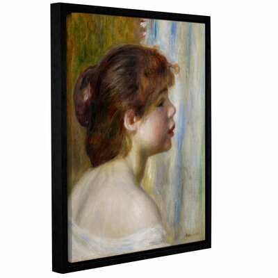 'Head Of A Young Woman, Late 19th Century' by Pierre Renoir Framed Painting Print
