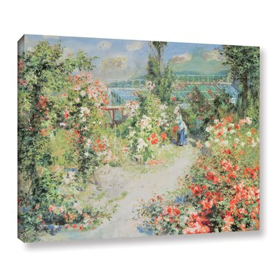 'The Conservatory' by Pierre Renoir Painting Print on Wrapped Canvas