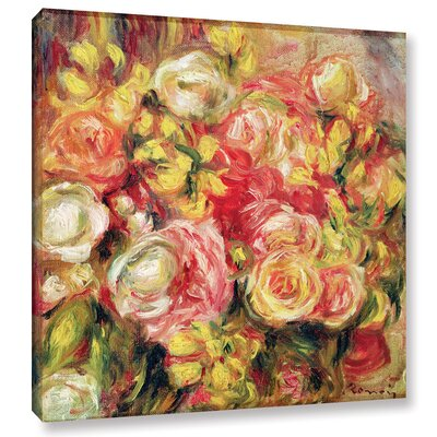'Roses, 1915' by Pierre Renoir Painting Print on Wrapped Canvas