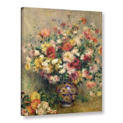 'Dahlias' by Pierre Renoir Painting Print on Wrapped Canvas