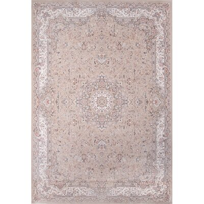 Ponton Taupe Area Rug Rug Size: Rectangle 53 x 77