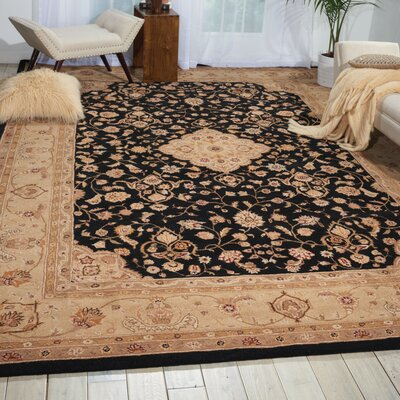 Lundeen Black Area Rug Rug Size: Rectangle 15 x 23