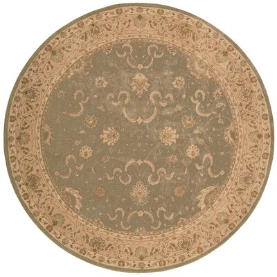 Lundeen Green Area Rug Rug Size: Round 9