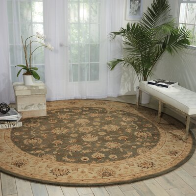 Lundeen Slate Area Rug Rug Size: Round 9 x 9
