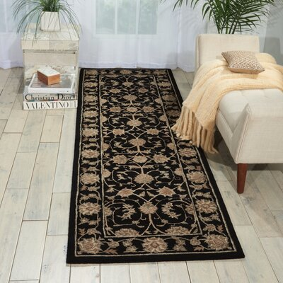 Lundeen Black Area Rug Rug Size: Runner 26 x 8