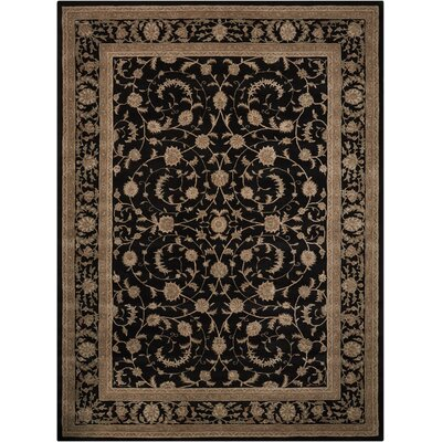 Lundeen Black Area Rug Rug Size: Rectangle 26 x 42