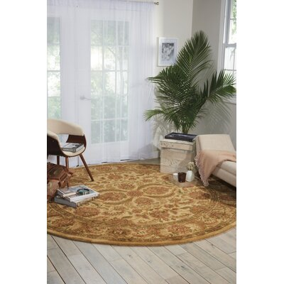 Fullmer Ivory Area Rug Rug Size: Round 8