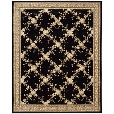 Kendra Hand-Tufted Black Area Rug Rug Size: Rectangle 53 x 83