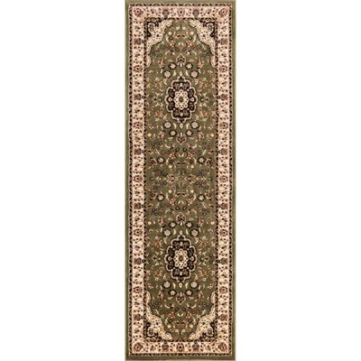 Eldorado Medallion Green Area Rug Rug Size: Runner 2'3