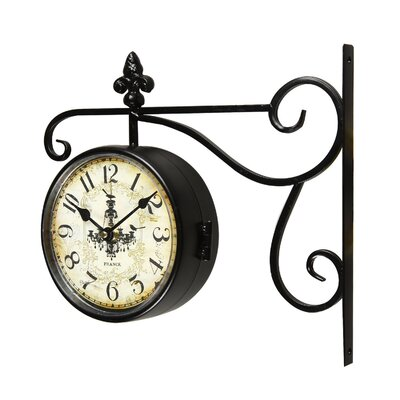 Round Chandelier Double-Sided Wall Hanging Clock