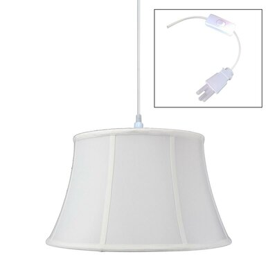 Gowan Empress 1-Light Pendant Shade Color: White, Size: 10 H x 17 W x 17 D
