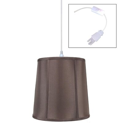 Burkes 1-Light Drum Pendant Shade Color: Chocolate