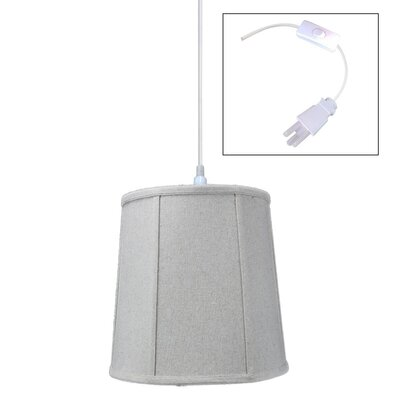 Burkes 1-Light Drum Pendant Shade Color: Sand Linen