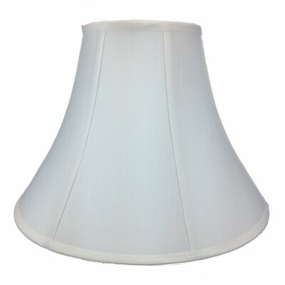 17 Silk/Shantung Bell Lamp Shade Color: White