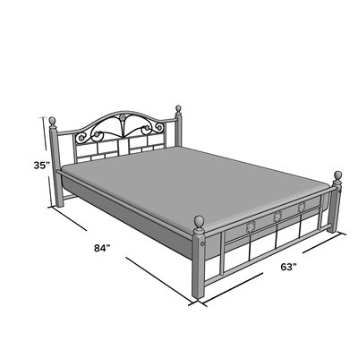 Irvin Platform Bed Size: Queen