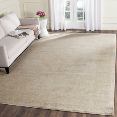 Cortes Beige Area Rug Rug Size: Rectangle 76 x 106