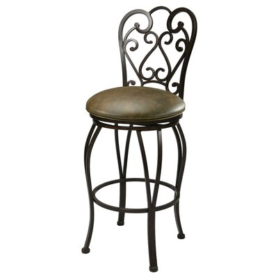 Barrand 26 Swivel Bar Stool Upholstery: Florentine Coffee