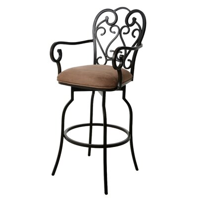 Aloysius 30 Swivel Bar Stool Upholstery: Suede Moccasin Suede