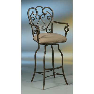 Aloysius 31 inch Swivel Bar Stool with Cushion