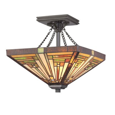 Diahna 2-Light Semi Flush Mount