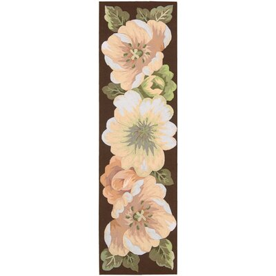 Haleigh Flower Hand-Hooked Area Rug Rug Size: 36 x 56