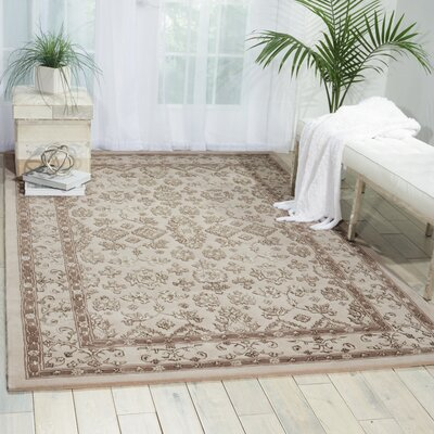 Fraserburgh Brown/Ivory Area Rug Rug Size: 56 x 86