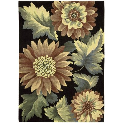 Earnestine Black Area Rug Rug Size: 36 x 56