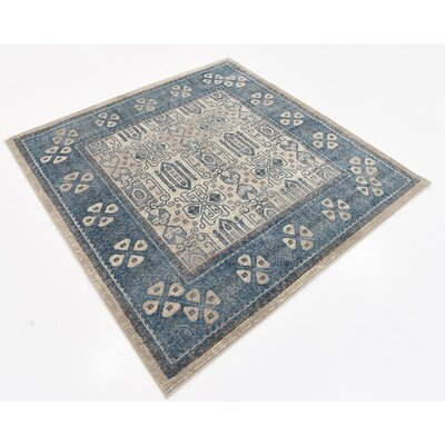 Basswood Beige Area Rug Rug Size: Square 5
