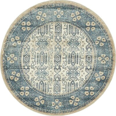Basswood Beige Area Rug Rug Size: Round 4