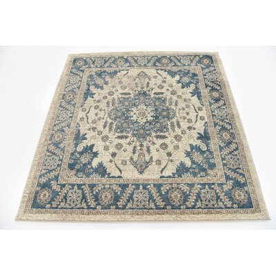 Basswood Cream Area Rug Rug Size: Square 5