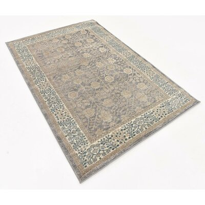 Basswood Gray Area Rug Rug Size: 4' x 6'