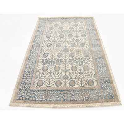 Basswood Cream Area Rug Rug Size: 4' x 6'