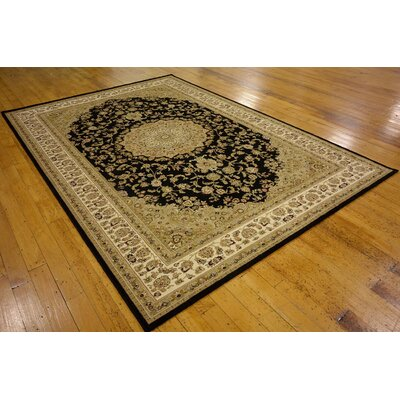 Onsted Black Area Rug