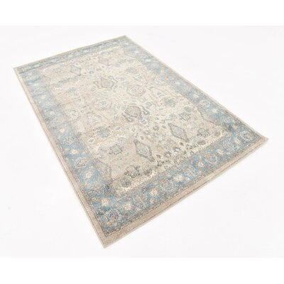 Basswood Cream Area Rug Rug Size: 4 x 6