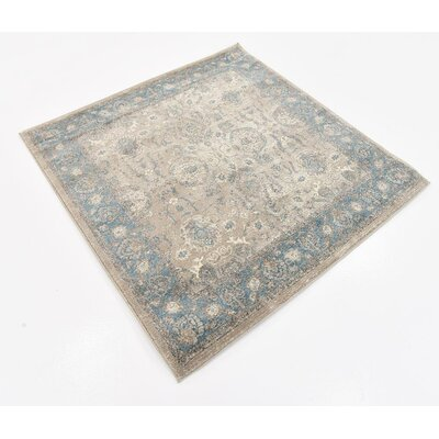 Basswood Cream Area Rug Rug Size: Square 4