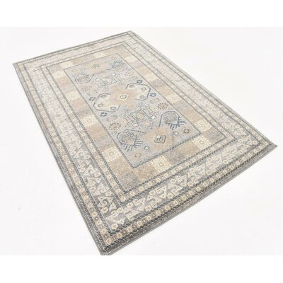 Basswood Gray Area Rug Rug Size: 4 x 6
