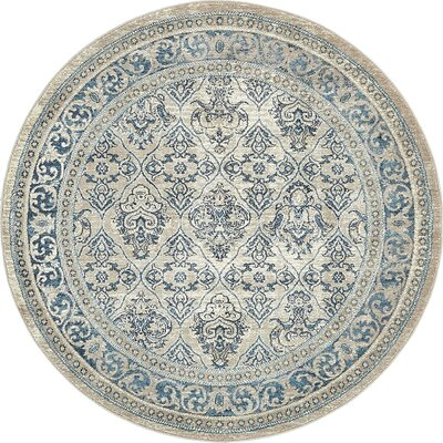 Basswood Beige Area Rug Rug Size: Round 5