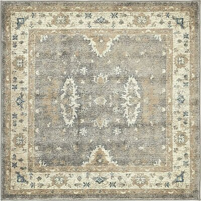 Basswood Gray Area Rug Rug Size: Square 4