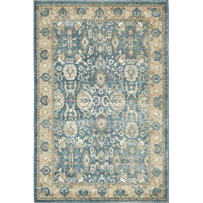 Basswood Light Blue Area Rug Rug Size: 4 x 6