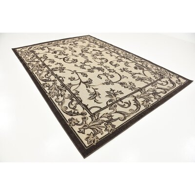Augustine Beige Indoor/Outdoor Area Rug Rug Size: 7 x 10