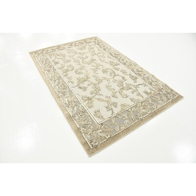Audubon Beige/Gray/Light Brown Indoor/Outdoor Area Rug Rug Size: Rectangle 4 x 6
