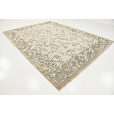 Audubon Beige/Gray/Light Brown Indoor/Outdoor Area Rug Rug Size: Rectangle 9 x 12