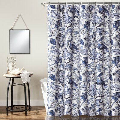 Morristown Shower Curtain Color: Blue