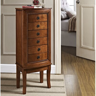 Becky Free Standing Jewelry Armoire with Mirror