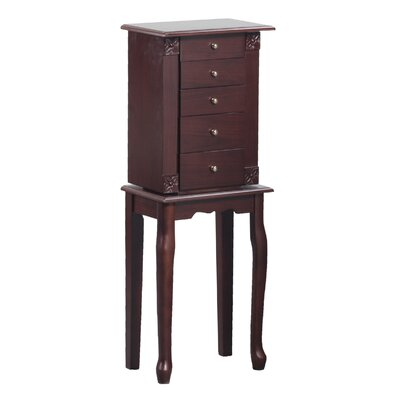 Bonville Free Standing Jewelry Armoire with Mirror