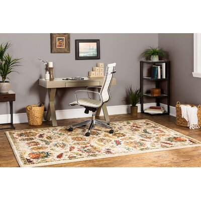 Millard Cream/Taupe Area Rug Rug Size: Rectangle 53 x 710
