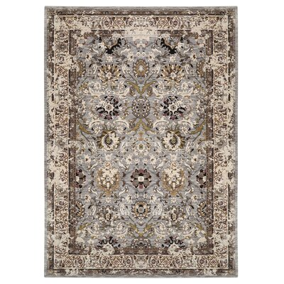Jepson Silver/Beige Area Rug Rug Size: Rectangle 53 x 710